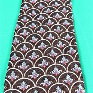 Vintage Robert Talbot  Parisian Brown Silk Tie